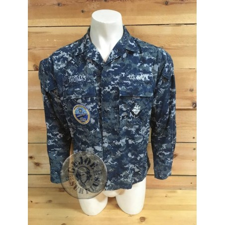 """SOLD!!! US NAVY NWU CAMO JACKET """"CVN-78 GERALD FORD AIRCRAFT CARRIER"""" /COLLECTORS ITEM"""
