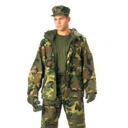 PARKA GORETEX ECWCS CAMO WOODLAND US ARMY NOVES