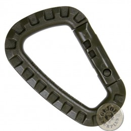 TACTICAL PVC CARABINER OLIVE GREEN COLOUR