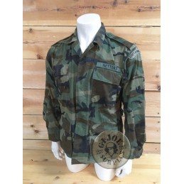 DUTCH NAVY MARINES CAMO COMBAT SHIRT WOODLNAD CAMO USED CONDITION