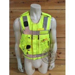 BRITISH POLICE HIGH VISIBILITY TACTICAL VEST USED GREAT CONDITION