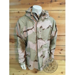 US ARMY ECWCS GORETEX DESERT 3 COLORS CAMO PARKA AS NEW