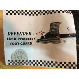 BRITISH POLICE RIOT EQUIPMENT FOOT PROTECTION NEW