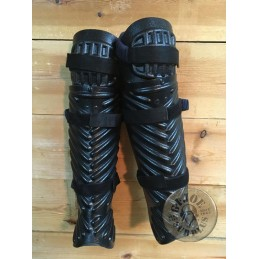 BRITISH POLICE RIOT EQUIPMENT COMPLETE LEG PROTECTION USED
