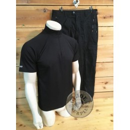 "BRITISH ""POLICE"" TACTICAL SET TOP+TROUSERS USED SUPER GRADE1 BLACK COLOUR"