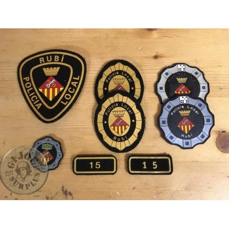 "SOLD!!! SET 13xPATCHES LOCAL CATALAN POLICE ""RUBI"" /COLLECTORS ITEM"