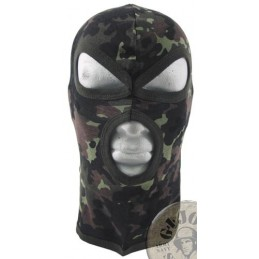 "3 HOLE BALACLAVA ""AGRESSIVE"" 100% COTTON FLECKTARN CAMO"