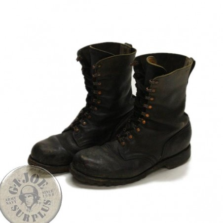 "GERMAN ARMY BLACK LEATHER BOOTS ""PARA"" USED GRADE1 CONDITION"
