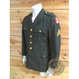 "CHAQUETA DEL UNIFORME DE PASEO US ARMY GREEN CLASS A TROPA ""VIETNAM WAR 1969"" TALLA 40R /PIEZA UNICA"