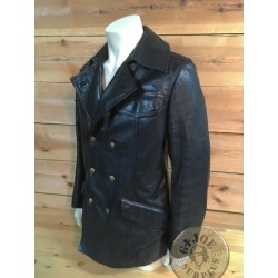 GERMAN BGS BORDER POLICE LEATHER JACKET /COLLECTORS ITEM