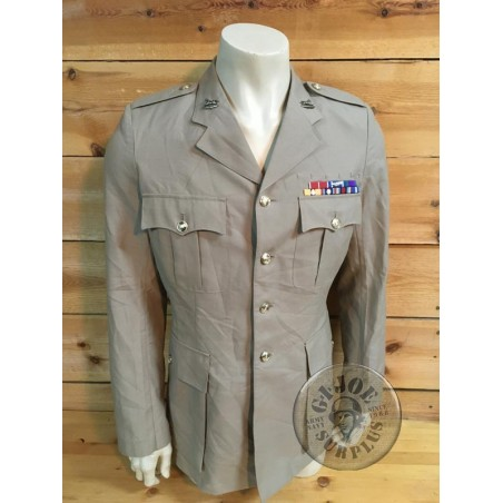 """BRITISH ARMY nO 4 TROPICAL OFF DUTY JACKEY """"YOHKSHIRE GREEN HOWARDS"""" /COLLECTORS ITEM"""