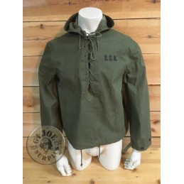 """PARKA IMPERMEABLE US NAVY WWII """"FOUL WEATHER"""" SMALL NUEVA /PIEZA ÚNICA"""