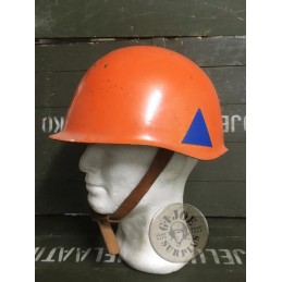 CZECH CIVIL DEFENSE M53 IRON HELMET USED CONDITION