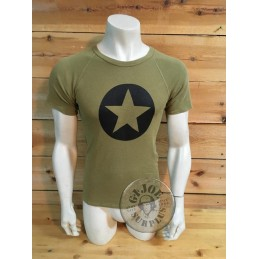 "SELLING AT STORE!!! RECYCLED AD PRINTED RAGLAN  ARMY  T/SHIRTS ""BLACK STAR"""