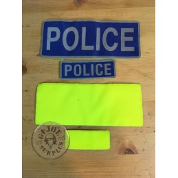 BRITISH POLICE HIGH VISIBILITY VELCRO PATCHES SET USED CONDITION