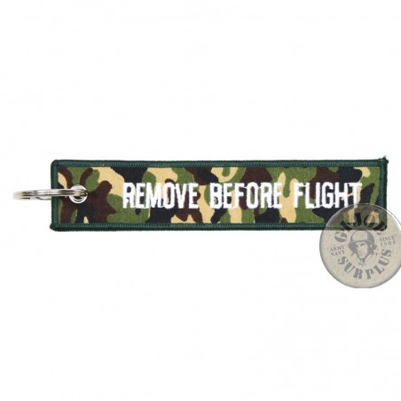 """KEYRING AVIATION COLLECTION """"REMOVE BEFORE FLIGHT"""" CAMO"""