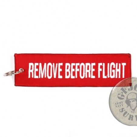"""KEYRING AVIATION COLLECTION """"REMOVE BEFORE FLIGHT"""" RED COLOUR"""