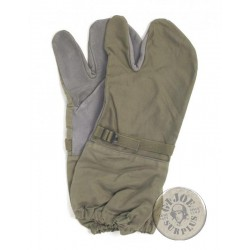 SELLING AT STORE!!! GERMAN ARMY LEATHER AND COTTON  WINTER GLOVES NEW