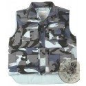 WINTER PADDED VEST SKY BLUE CAMO