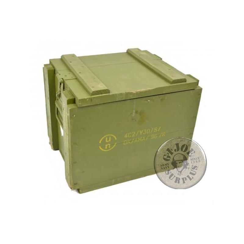 DANISH ARMY WOOD BOX MEDIUM 36x27x29 USED GREAT CONDITION