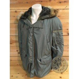 US AIR FORCE NYLON N3B EXTREM COLD WEATHER PARKA XLARGE USED /COLLECTORS ITEM