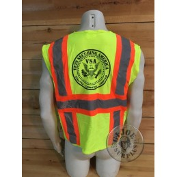 """US SECURITY COMPANY """"VSA-VETERNAS"""" HIGH VISIBILITY VEST /COLLECTORS ITEM"""