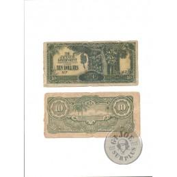 BILLETES 10 DOLARES SINGAPUR OCUPACION JAPONESA WWII