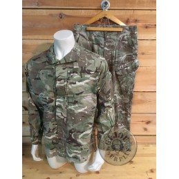 SELLING AT STORE!!! BRITISH ARMY PCFS COMBAT MTP CAMO  SET USED /TROUSERS+JACKET