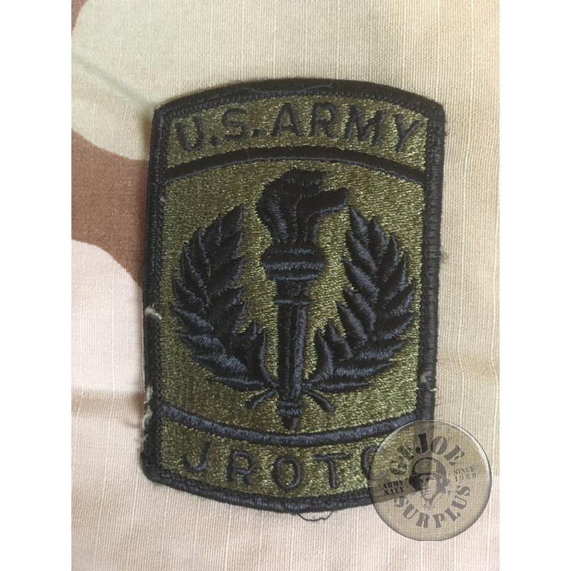 """US ARMY GENUINE PATCH """"JROTC /JUNIOR RESERVE OFFICERS"""" SUBDUED"""