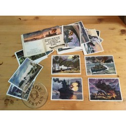 GENUINE SOVIET UNION NAVY WW2 BATTLEST POSTCARDS SET /COLLECTORS ITEM
