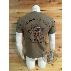 """SOLD!!! GERMAN ARMY  """"TOUR KFOR KOSOVO"""" TOUR T-SHIRT /COLLECTORS ITEM"""