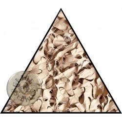 CAMOUFLAGE NET TRIANGLE 3x3x3 75% SHADE CAMOSYSTEMS PREMIUM/KHAKI COLOUR