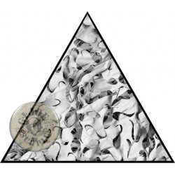 CAMOUFLAGE NET TRIANGLE 3X3X3M 75% SHADE CAMOSYSTEMS PREMIUM/WHITE COLOUR