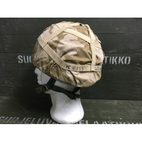 BRITISH ARMY DPM DESERT MK6 HELMET COVER USED