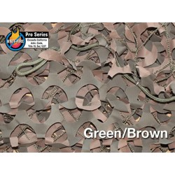 "CAMOUFLAGE NET 3X3M 50% SHADE ""FIRE RETARDANT PREMIUM CAMO SYSTEMS"" GREEN (9m2)"