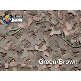 "CAMOUFLAGE NET 6X3M 50% SHADE ""FIRE RETARDANT PREMIUM CAMO SYSTEMS"" GREEN (18m2)"