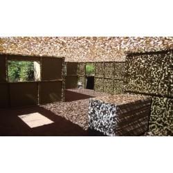 "CAMOUFLAGE NET 6X3M 50% SHADE ""FIRE RETARDANT PREMIUM CAMO SYSTEMS"" GREEN (18m2)"