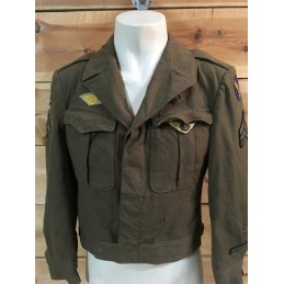 "CHAQUETA DE TROPA ""IKE"" US ARMY AIR FORCES 2GM ""MIDDLE EAST t/38S""/PIEZA UNICA"