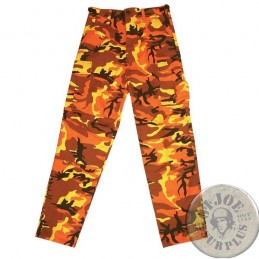 ORANGE CAMO BDU TROUSERS