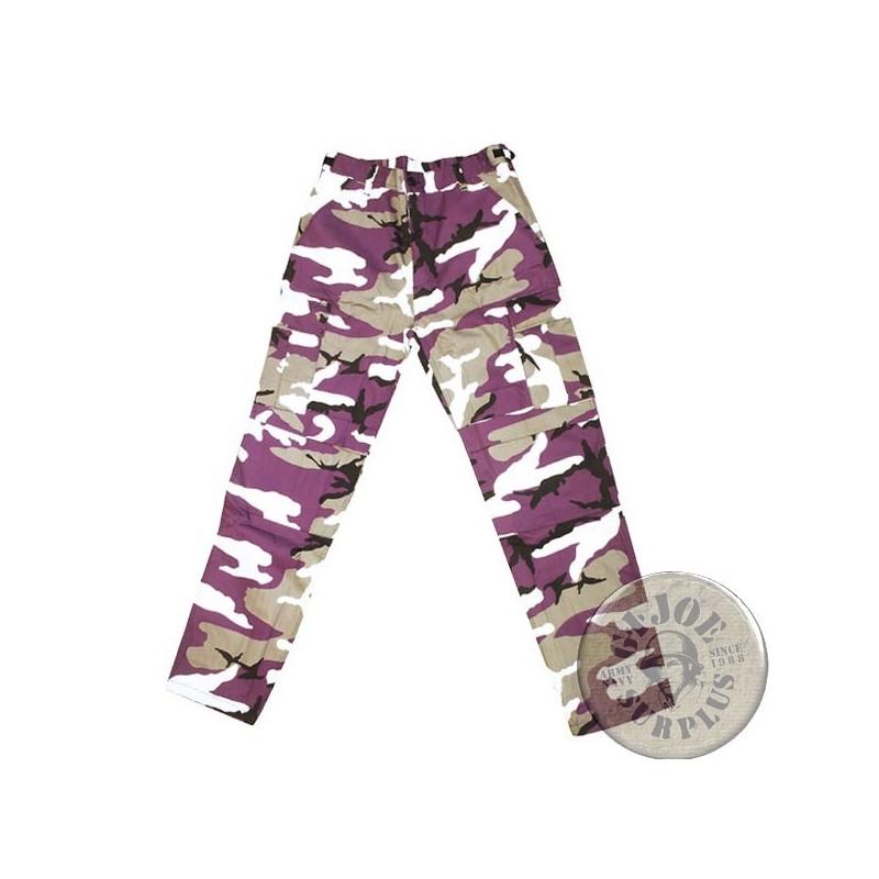 Pantalon Cargo Bdu Urban Style Camo Lila