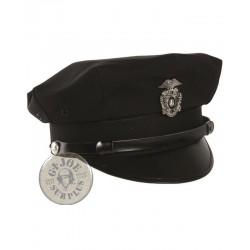 !!CARNAVAL!! GORRA PLATO POLICIA USA NEGRO