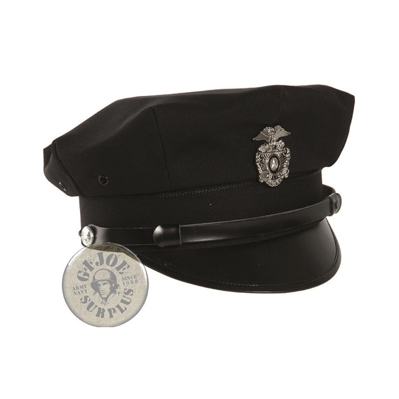GORRA PLATO OFICIAL POLICIA USA REPLICA NEGRO - GIJOE SURPLUS ... b1f8c3d2450