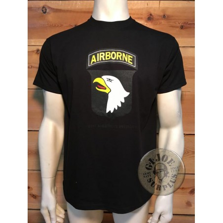 "CAMISETA M/CORTA ALGODON NEGRA ""101 AIRBORNE DIVISION SCREAMING EAGLES"""