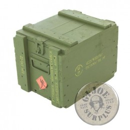 WOOD AMMO BOX DANISH ARMY