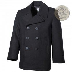 "CHAQUETON MARINERO ""PEACOAT US NAVY"" REPLICA NEGRO"