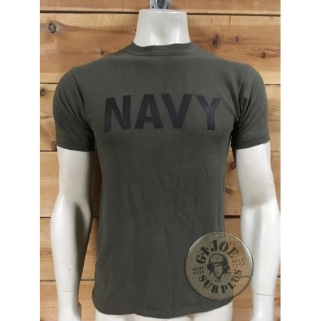 ARMY RECYCLED T/SHIRTS WITH PRINT ON /NAVY