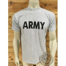 "CAMISETA M/CORTA ALGODON GRIS ""ARMY"""