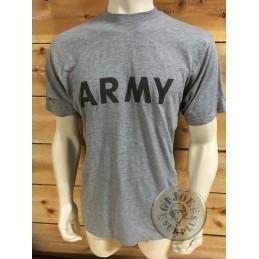 "CAMISETA M/CORTA ALGODON GRIS ""ARMY PT"""