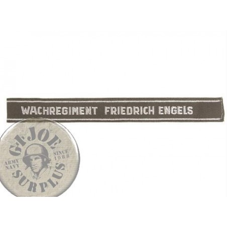 "XEAST GERMAN ARMY SLEEVE BAND ""WATCHREGIMENT FRIEDRICH ENGELS"""