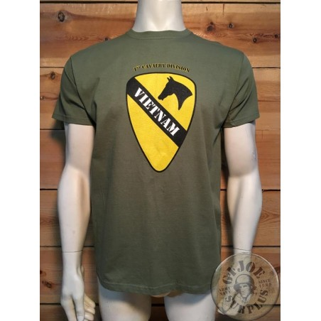 "T/SHIRT LOGO ""1ST CAVALRY DIVISION"" GREEN COLOUR"